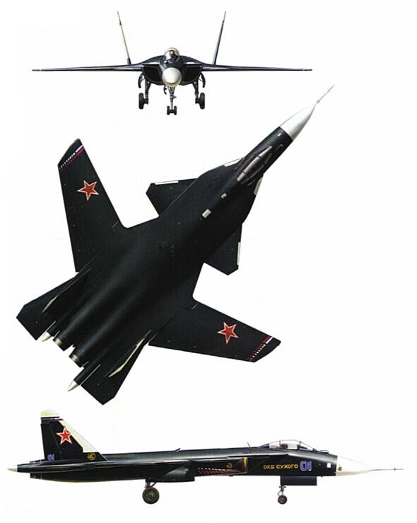 السوخوي 47 بيركوت ( النسر الذهبي ) Su-47_03