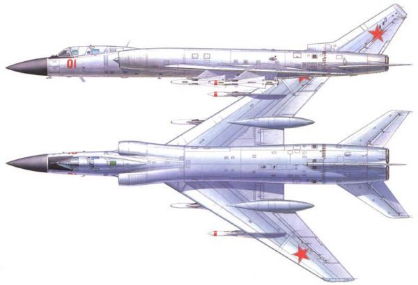 """空军世界 :: 俄罗斯 图-28/图-128 """"大提琴手"""" Fiddler 大型截击机"""
