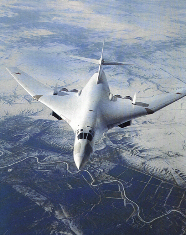 "By the way, this is the aircraft they're referring to; Tupolev Tu-160  ""Black Jack "" ."